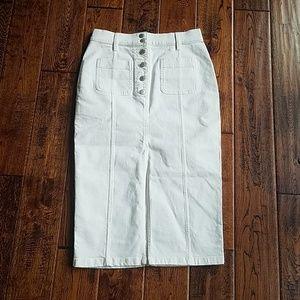 0c43aabd26 Madewell Skirts - <madewell> high slit denim skirt